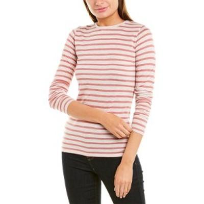 ヴィンス レディース シャツ トップス Vince Striped T-Shirt heather nougat and dusty rose