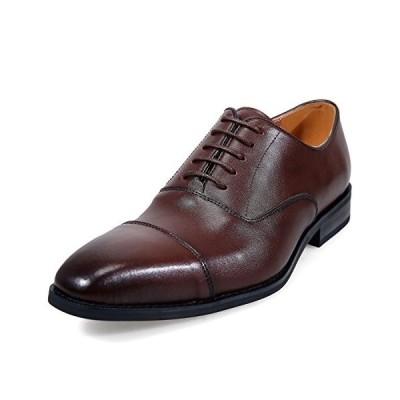 [アラモーダ] 日本製 ビジネスシューズ 本革 メンズ 革靴 紳士靴 内羽根ストレートチップ 1260 ダークブラウン 26.0cm