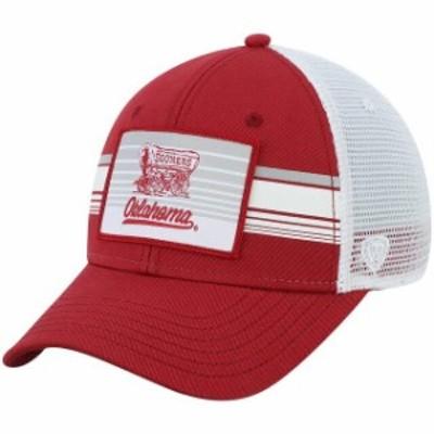 Top of the World トップ オブ ザ ワールド スポーツ用品  Oklahoma Sooners Top of the World Breeze Trucker Adjustable Hat - Crimson