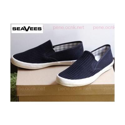 SEAVEES シービーズ スリップオン BAJA slip on/レディース 麻×綿 ブラック 新品 カリフォルニアスタイル