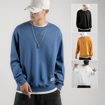 ロンT メンズ 長袖Tシャツ 秋服 ロングTシャツ トップス メンズファッション シンプル  無地 秋物