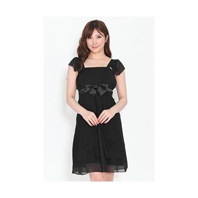 sweet bell (スイートベル) パーティードレス ドレス 結婚式 ブラック 黒 2Lサイズ XLサイズ LLサイズ 半袖 袖付き 袖