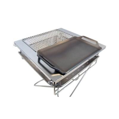 スノーピーク 焚火台・L 対応 グリルプレート(ハーフ) 板厚4.5mm (グリル本体は商品に含まれません)