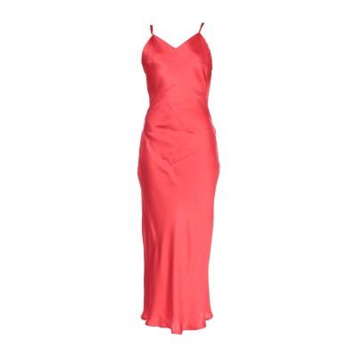 リビアナ コンティ LIVIANA CONTI ロングワンピース&ドレス レッド 46 アセテート 78% / シルク 22% ロングワンピース&ド