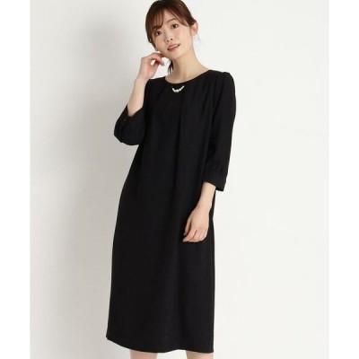 grove / グローブ パールネックレス付きサックドレス