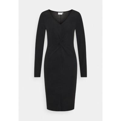 カフェ ワンピース レディース トップス KAJAMAL DRESS - Shift dress - black