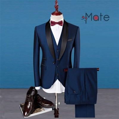 礼服 メンズ おしゃれ 3ピーススーツ ビジネススーツ 1つボタン スリーピーススーツ 結婚式 就職 入学 卒業式 スーツ 新生活
