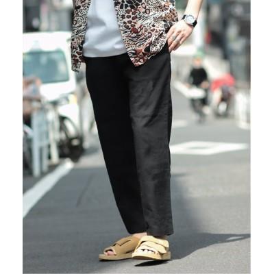 【ジャーナルスタンダード】 LINEN SOLOTEX/リネンソロテックス イージーパンツ メンズ ブラック M JOURNAL STANDARD