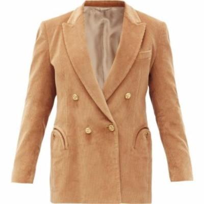 ブレイズ ミラノ Blaze Milano レディース スーツ・ジャケット アウター Classic Touch double-breasted cotton blazer Camel