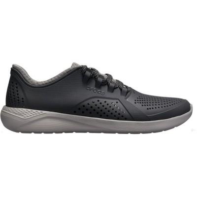 クロックス スニーカー シューズ メンズ Crocs Men's LiteRide Pacer Shoes Black/Smoke