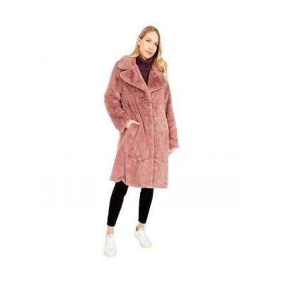 Avec Les Filles レディース 女性用 ファッション アウター ジャケット コート Faux Fur Bunny Coat - Rose Mauve