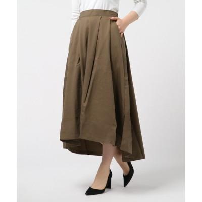 スカート ツイルタックロングスカート