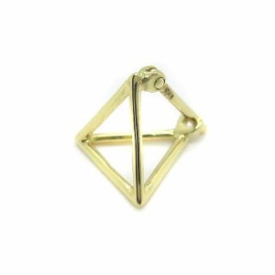 【中古】シハラ SHIHARA ピアス triangle pierce 10mm 片耳用 750 K18 ゴールド /YO11 レディース