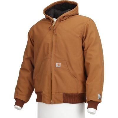 カーハート ジャケット&ブルゾン アウター メンズ Carhartt Men's Duck Active Quilted Flannel Lined Jacket Carhartt Brown