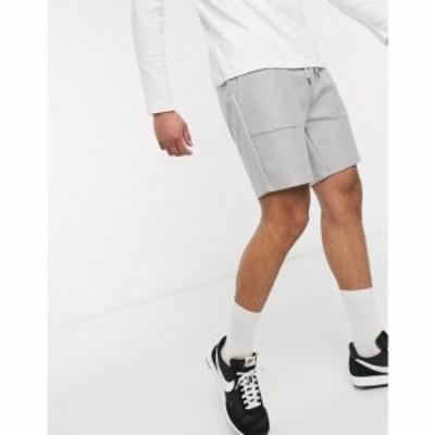 トップマン Topman メンズ ショートパンツ ボトムス・パンツ jersey shorts in grey グレー