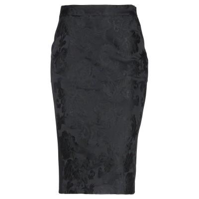 リビアナ コンティ LIVIANA CONTI 7分丈スカート ブラック 42 アセテート 55% / ポリエステル 45% / レーヨン / ナイ