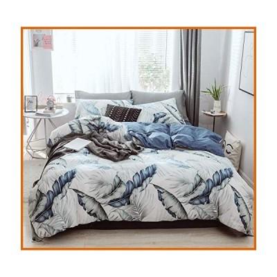 送料無料 GEFEII 綿100% 掛け布団カバーセット フル/クイーン ソフト 通気性 3ピース 寝具セット ジッパー