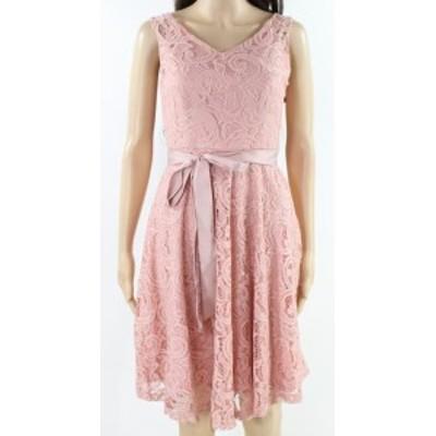 ファッション ドレス Dressystar NEW Pink Womens Size XS Floral Lace Overlay A-Line Dress