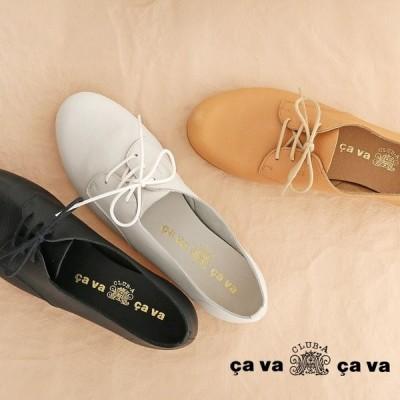 cavacava レースアップシューズ  3720309 サヴァサヴァ ナチュラルシューズ マニッシュ レディース 靴 ブーツ  ブラック 黒
