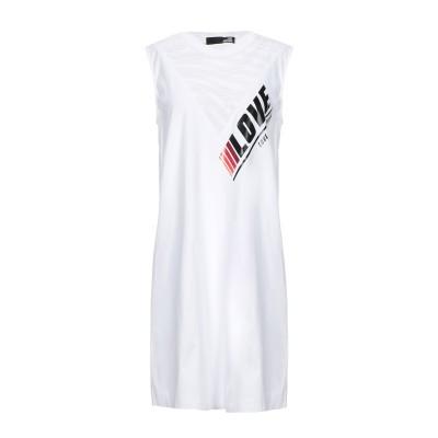 ラブ モスキーノ LOVE MOSCHINO ミニワンピース&ドレス ホワイト 46 コットン 100% ミニワンピース&ドレス