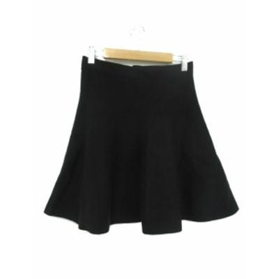 【中古】プロポーション ボディドレッシング PROPORTION BODY DRESSING スカート ミニ フレア 2 黒 ブラック /YT15 レディース