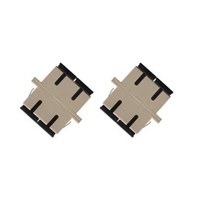 RiteAV (ライトAV) 光ファイバーアダプターカプラー SCからSCマルチモードデュプレックス 2個パック