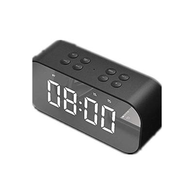 目覚まし時計 Ledデジタル目覚まし時計ポータブルledミラー目覚まし時計3調光モードスヌーズ機能旅行寝室オフィス最高のホリデーギフト 寝室の目覚まし
