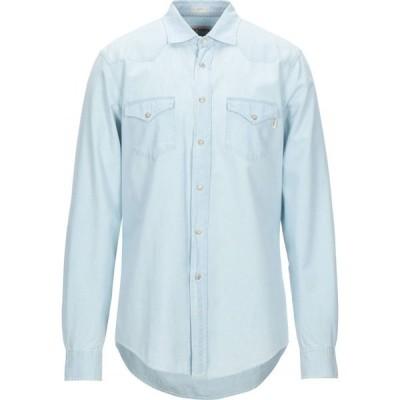 ロイロジャース ROY ROGER'S メンズ シャツ トップス solid color shirt Blue