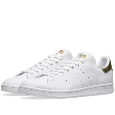 アディダス Adidas Womens レディース スニーカー スタンスミス シューズ・靴 adidas stan smith w White/Gold Metallic