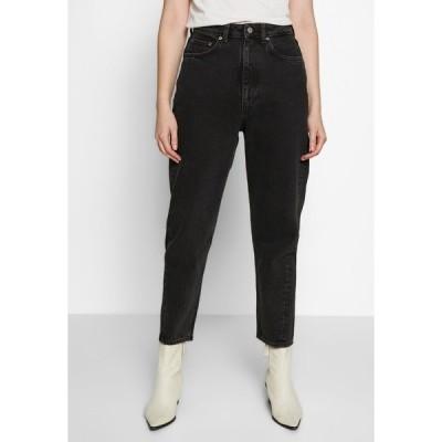 ウィークデイ デニムパンツ レディース ボトムス MEG HIGH MOM WASHED BACK - Straight leg jeans - washed black