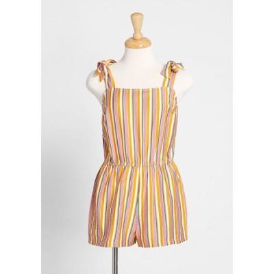 モドクロス ModCloth レディース オールインワン ワンピース・ドレス summer stroll tie-shoulder romper pink stripes