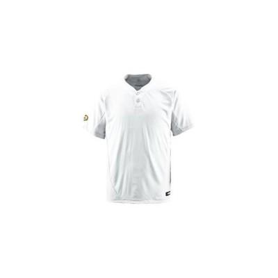 ds-1047470 デサント(DESCENTE) ベースボールシャツ(2ボタン) (野球) DB201 Sホワイト S (ds1047470)