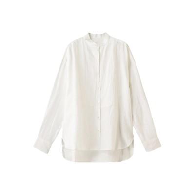 Whim Gazette ウィム ガゼット フレンチリネンスタンドカラーシャツ レディース ホワイト F
