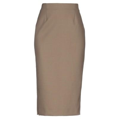 ジャッカ JUCCA 7分丈スカート カーキ 42 ポリエステル 54% / バージンウール 44% / ポリウレタン 2% 7分丈スカート