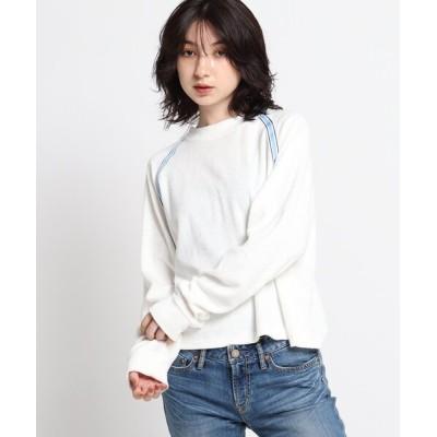 WORLD ONLINE STORE SELECT / 【ウォッシャブル】ラインテープデザインロングTシャツ WOMEN トップス > Tシャツ/カットソー