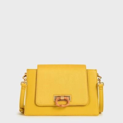 【2020 SUMMER】テクスチャード クロスボディバッグ / Textured Crossbody Bag (Yellow)