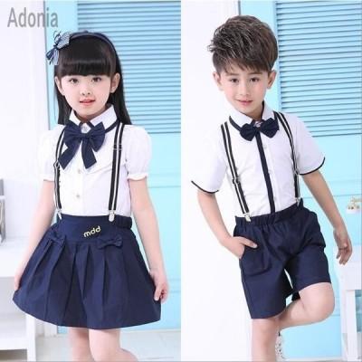 キッズセーラー服子供女の子スカートワイシャツ男の子セーラー服入園式入学式可愛い半袖夏