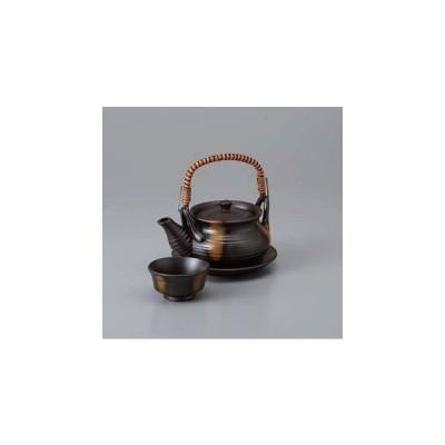 土瓶蒸し 土瓶  黒吹き巾着土瓶むし 土瓶蒸し 直火可 陶器 急須型 土瓶