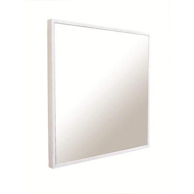 NaturalHouse 細枠 鏡 壁掛け ミラー 正方形 日本製 幅 42 奥行 2.5 高さ 42 cm かがみ 面 飛散 防止 加工