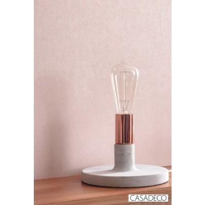 輸入壁紙 CASADECO INT80414308 PLAINS&STRIPES 織物'幾何学 モダン ピンク