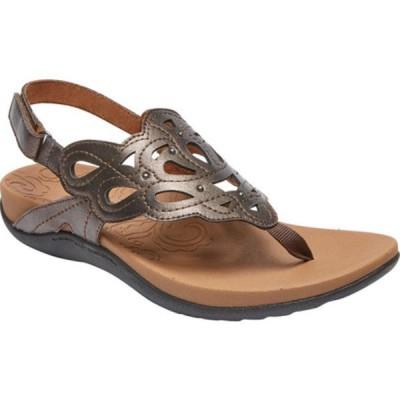 ロックポート スニーカー シューズ レディース Ridge Sling Sandal (Women's) Bronze Leather