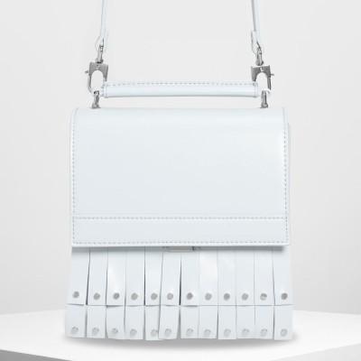 CHARLES&KEITH チャールズ&キース Fringe Detail Top Handle Bag