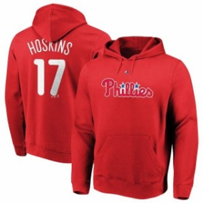 Majestic マジェスティック スポーツ用品  Majestic Rhys Hoskins Philadelphia Phillies Red Authentic Name & Number Pu