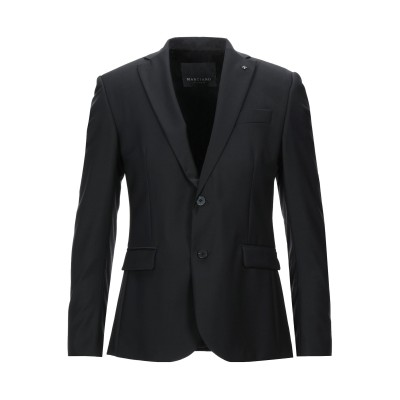 MARCIANO テーラードジャケット ブラック 48 ポリエステル 52% / ウール 43% / ポリウレタン 5% テーラードジャケット