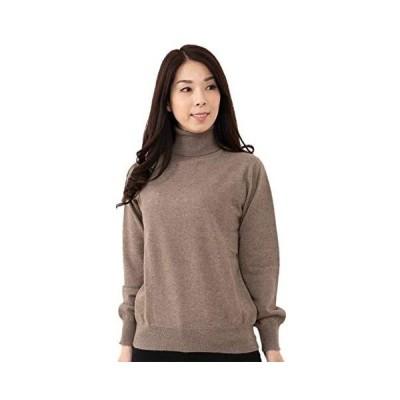 GOBI(ゴビ)カシミヤ100% タートルネック セーター (16-モカブラウン M)