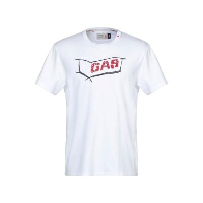 GAS T シャツ ホワイト L コットン 100% T シャツ
