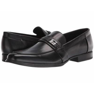 カルバンクライン メンズ スリッポン・ローファー シューズ Drystan Black Crust Leather