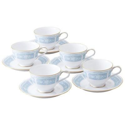 食器 ノリタケ レースウッドゴールド ティー・コーヒー碗皿(5客)