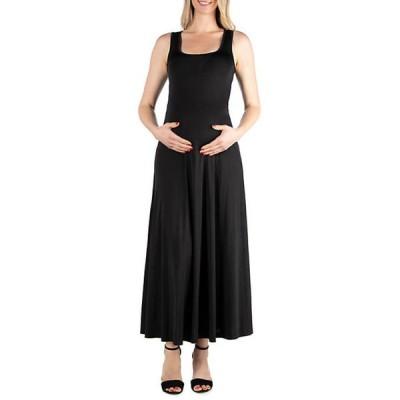 24セブンコンフォート レディース ワンピース トップス Maternity Simple A Line Tank Maxi Dress