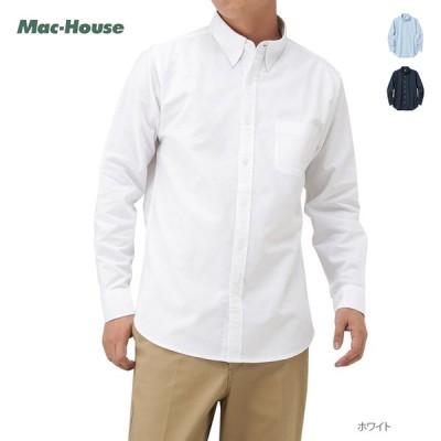 シャツ 長袖 開襟シャツ オープンカラー メンズ 綿100% 無地